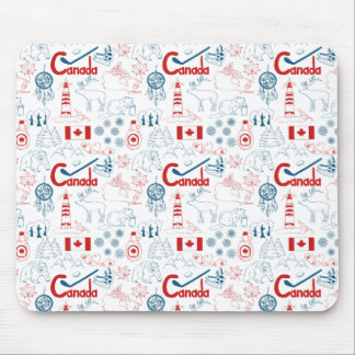 Canada | Symbols Pattern Mouse Pad