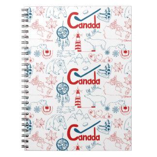 Canada | Symbols Pattern Notebooks