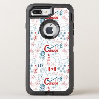 Canada | Symbols Pattern OtterBox Defender iPhone 7 Plus Case