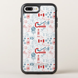 Canada | Symbols Pattern OtterBox Symmetry iPhone 7 Plus Case