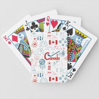 Canada   Symbols Pattern Poker Deck