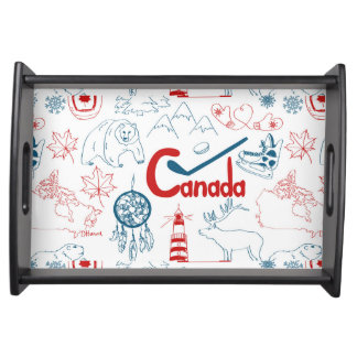 Canada | Symbols Pattern Serving Tray