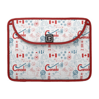 Canada | Symbols Pattern Sleeve For MacBooks