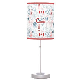 Canada | Symbols Pattern Table Lamp
