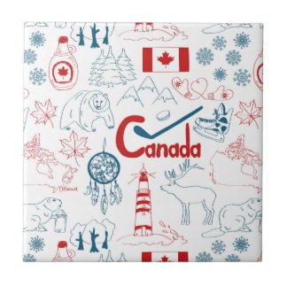 Canada | Symbols Pattern Tile