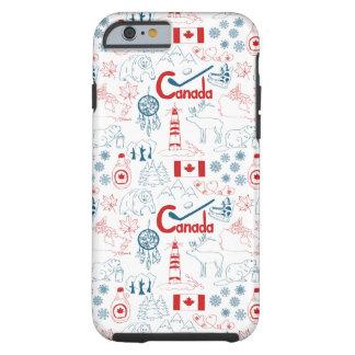 Canada | Symbols Pattern Tough iPhone 6 Case