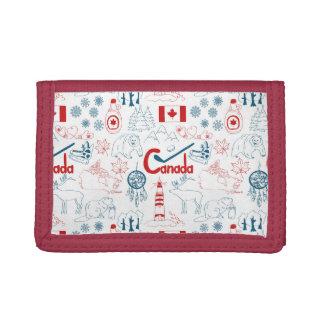 Canada | Symbols Pattern Tri-fold Wallet