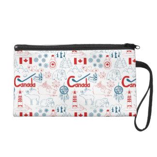 Canada | Symbols Pattern Wristlet