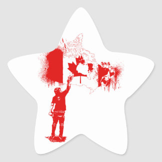 Canada Tagger Red Star Sticker