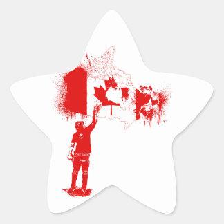 Canada Tagger Red Star Sticker