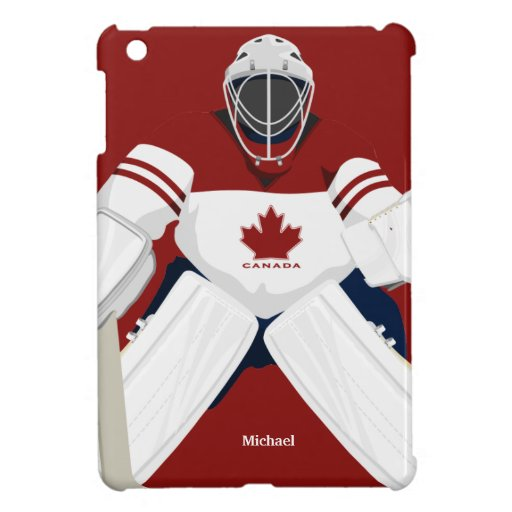 Canada Team Hockey Goalie  iPad Mini Case