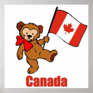 Canada Teddy Bear Print