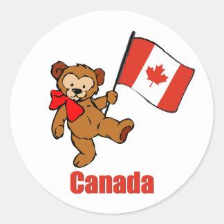 Canada Teddy Bear Sticker