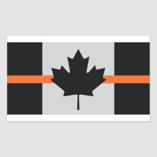 Canada thin orange line sticker