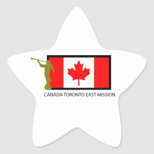 CANADA TORONTO EAST MISSION LDS CTR STAR STICKER