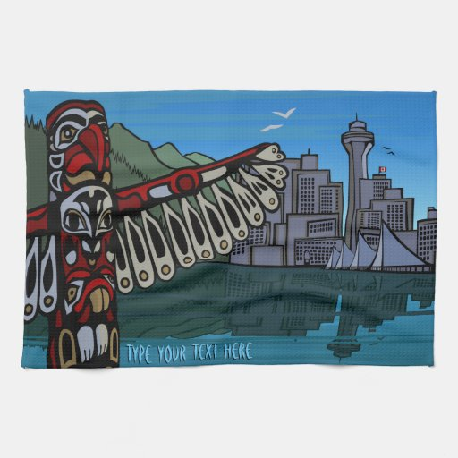 Canada Towel Personalized Vancouver Tea Towel