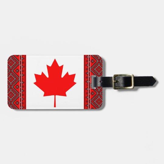 Canada Ukraine Flags Luggage Tag