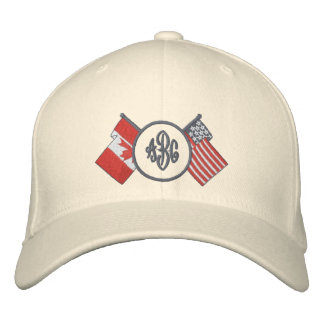 Canada - US- Monogram Hat Embroidered Baseball Cap
