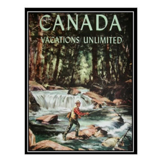 Canada Vacations Vintage Travel Poster