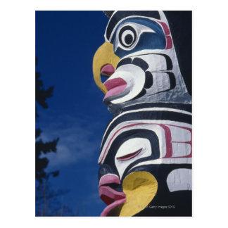Canada, Vancouver, Stanley Park, totem pole, Postcard