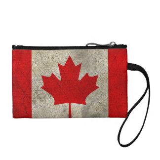 Canada Vintage Grunge Flag Coin Purse