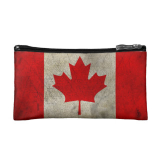 Canada Vintage Grunge Flag Cosmetic Bags
