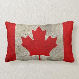 Canada Vintage Grunge Flag Lumbar Pillow