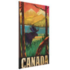 Canada Vintage Travel Poster Canvas Print