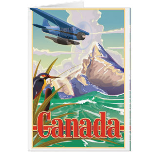 Canada Vintage Travel poster Card