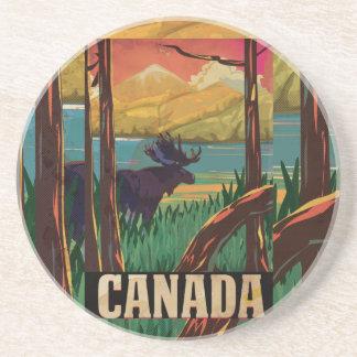 Canada Vintage Travel Poster Drink Coaster