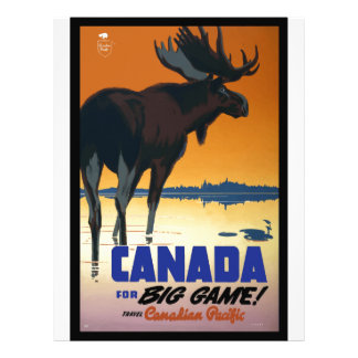 Canada Vintage Travel Poster Personalized Letterhead
