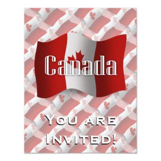 "Canada Waving Flag 4.25"" X 5.5"" Invitation Card"