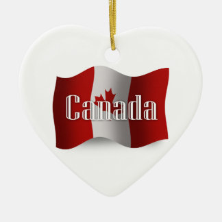 Canada Waving Flag Ceramic Ornament