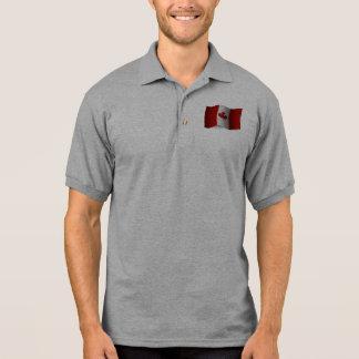 Canada Waving Flag Polo Shirt