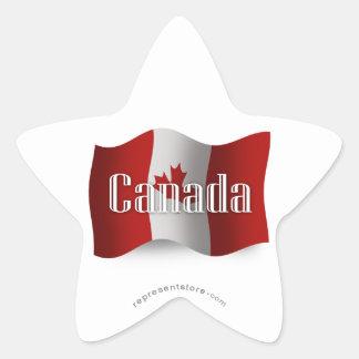 Canada Waving Flag Star Sticker