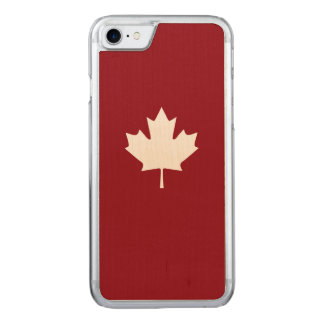 Canada White Maple Leaf Carved iPhone 8/7 Case