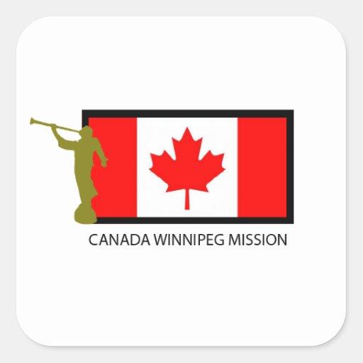 CANADA WINNIPEG MISSION LDS CTR SQUARE STICKER