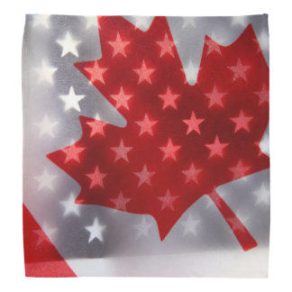 Canada with America flags Do-rag