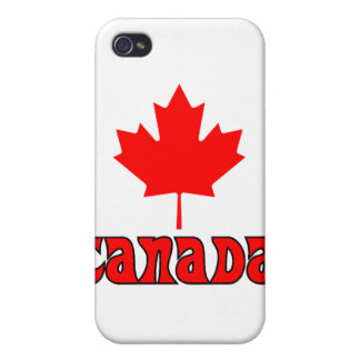 CANADA with red Maple Leaf iPhone 4 Case