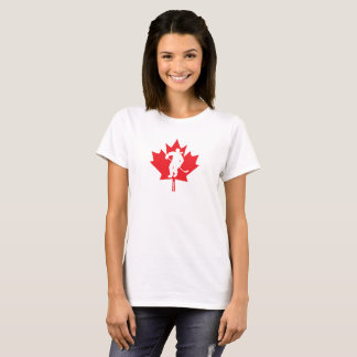Canada Women's Hockey Maple Leaf Female Player T-Shirt