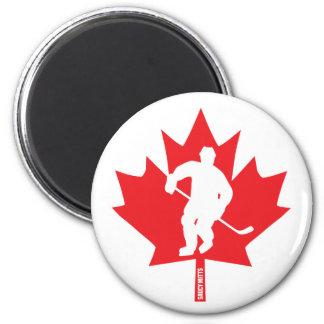 Canada Youth Hockey Maple Leaf Player Magnet