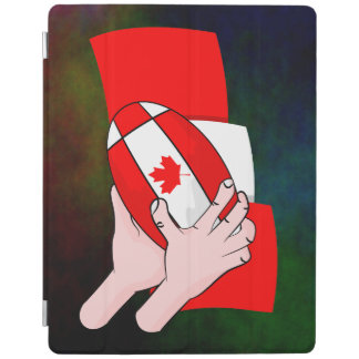 Canadain Flag Maple leaf Rugby Ball iPad Cover