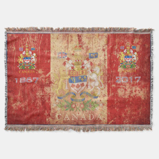 Canada's 150th Birthday Celebration Commemorative Throw Blanket