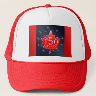 Canada's 150th Maple Leaf & Fireworks Celebration Trucker Hat