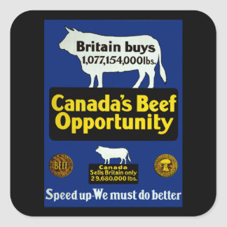 Canada's Beef Opportunity Square Sticker