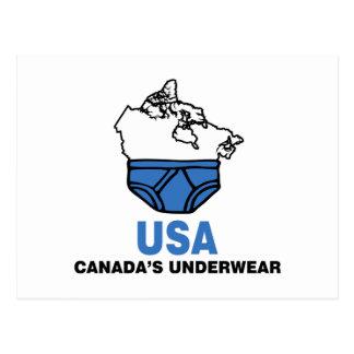 Canada's Underwear Postcard