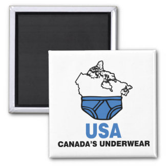 Canada's Underwear Square Magnet