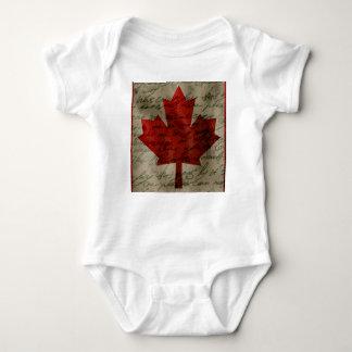 Canadean flag baby bodysuit