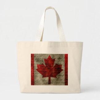 Canadean flag large tote bag