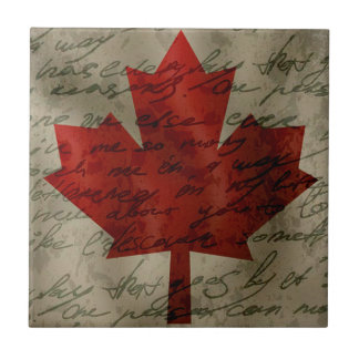 Canadean flag tile